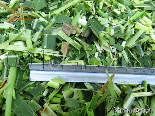 Nguyên liệu sau khi băm nhỏ có độ dài từ 1 - 5 cm