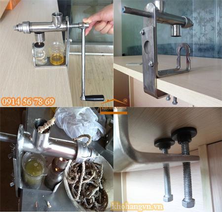 Cách lắp đặt máy ép dầu gia đình