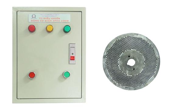 Tủ điện và mặt sàng máy ép viên thức ăn gia súc 3A22KW