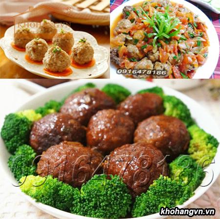 Các món ăn được làm từ nguyên liệu được xay bởi Máy xay thịt công nghiệp inox 3A GT2,2KW
